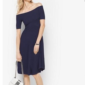 Michael Kors Off the Shoulder Swing Dress